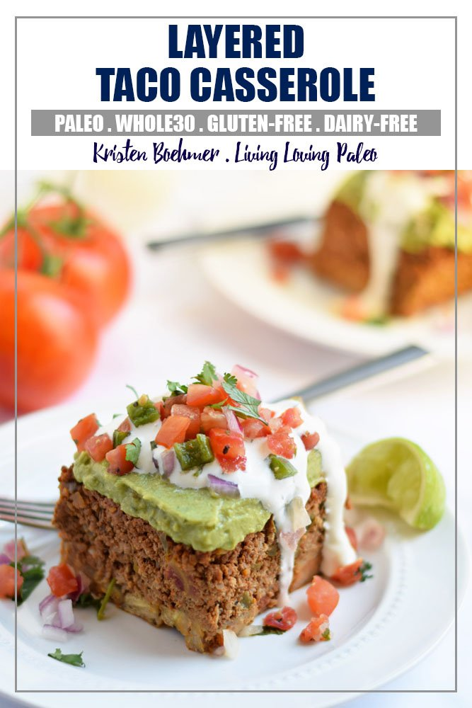 Layered Taco Casserole (paleo + Whole30)