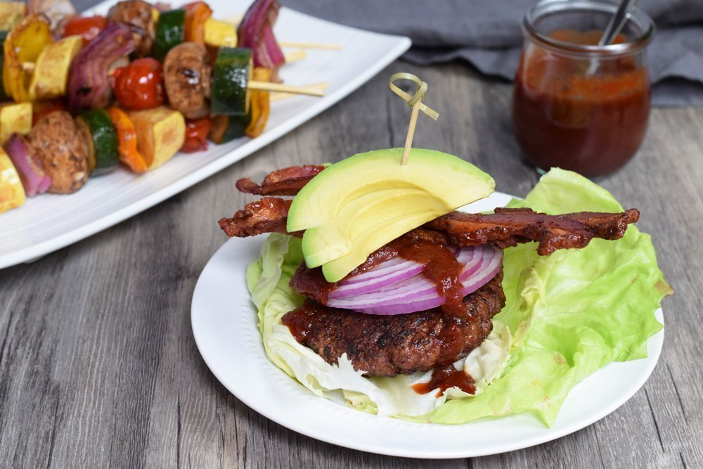 Coffee Spice Rubbed Barbecue Bacon Burgers
