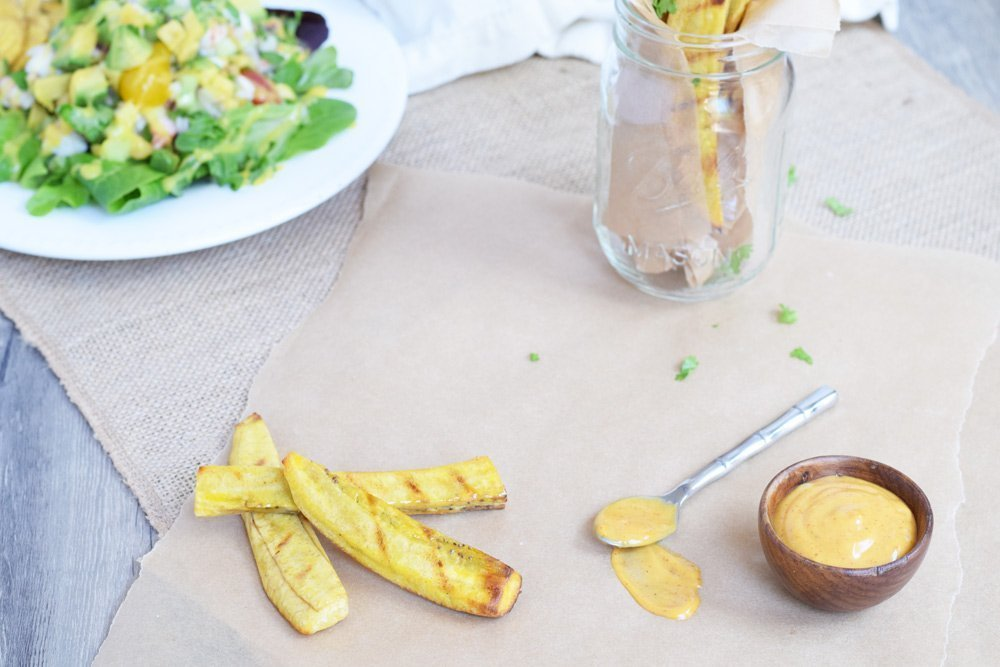 Grilled Plantain Fries