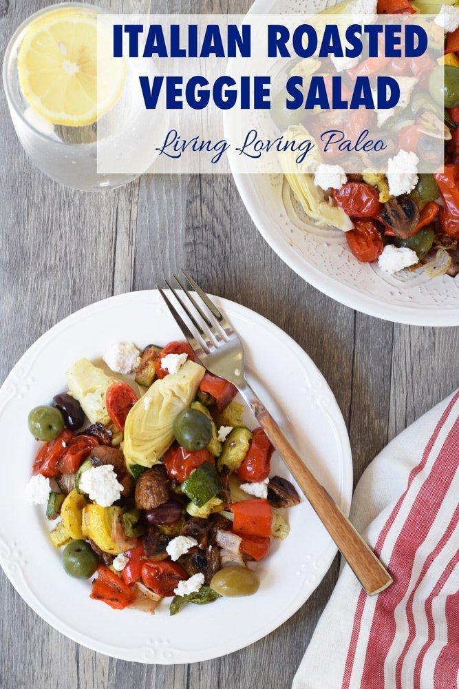Italian Roasted Veggie Salad