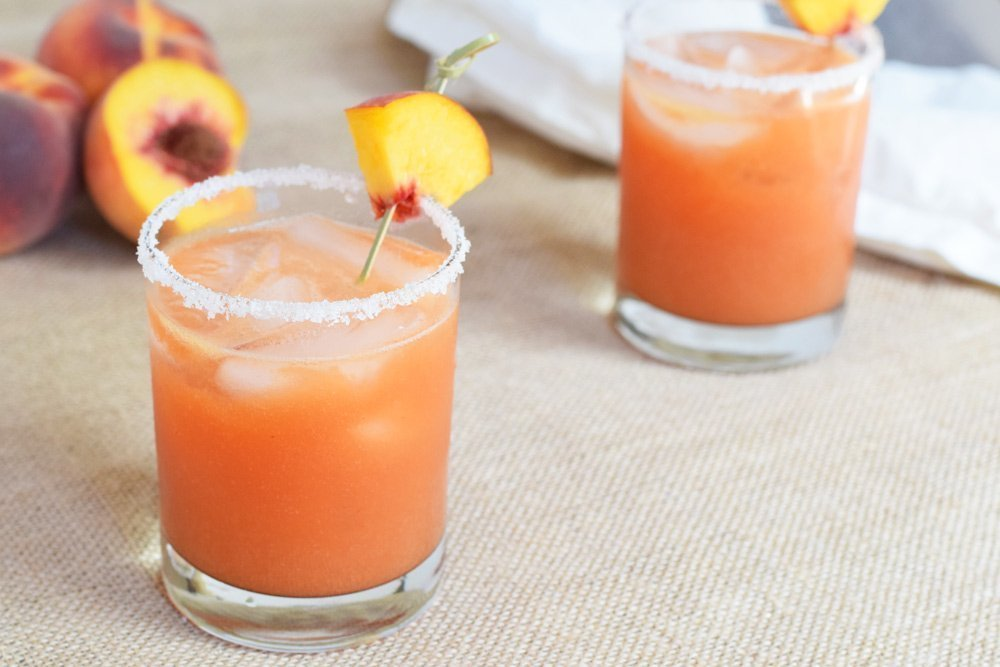 Fresh Peach Margaritas