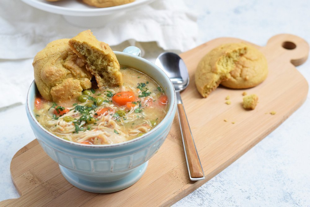 Chicken Pot Pie Soup (Instant Pot or Slow Cooker)
