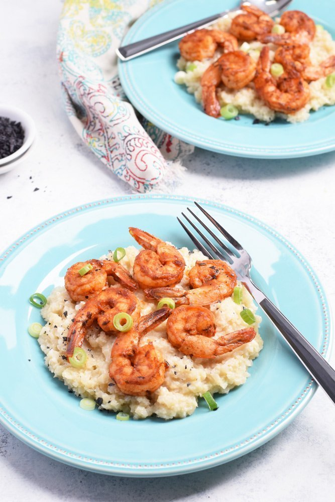 Cajun Shrimp & Cauliflower Grits