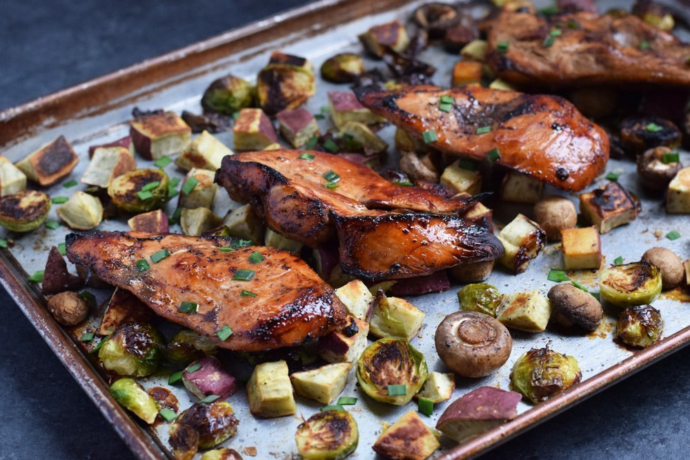 Balsamic Chicken Sheet-Pan Dinner