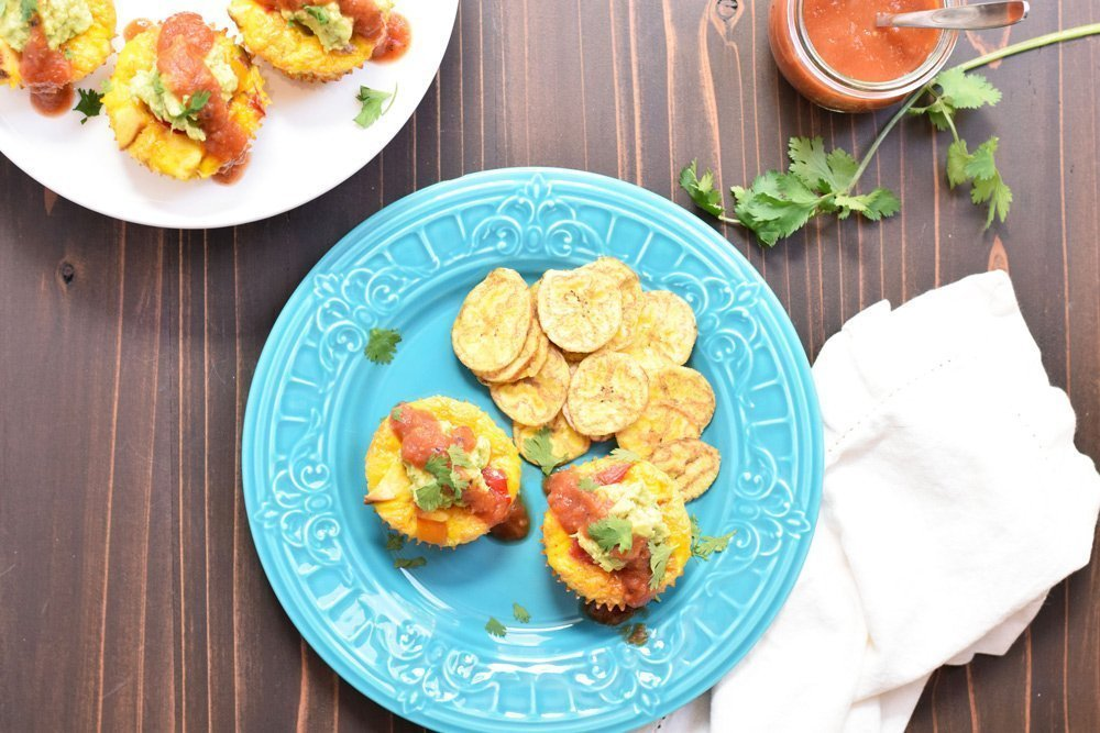 Chicken Fajita Egg Muffins