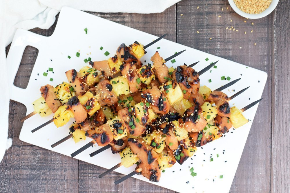 Teriyaki Pineapple Chicken Kabobs
