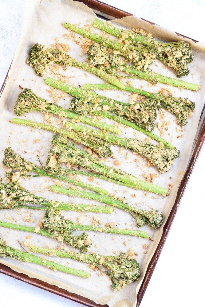 Crispy Crunchy Baked Broccolini