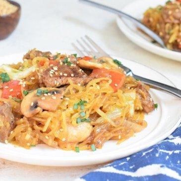 Spaghetti Squash Beef Stir-fry
