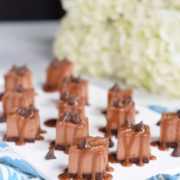 Dairy-free Double Chocolate Caramel Cheesecake Bars