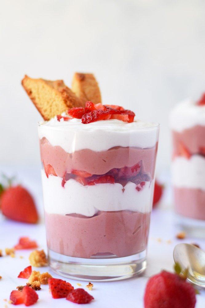 Strawberry Shortcake Pudding Parfaits
