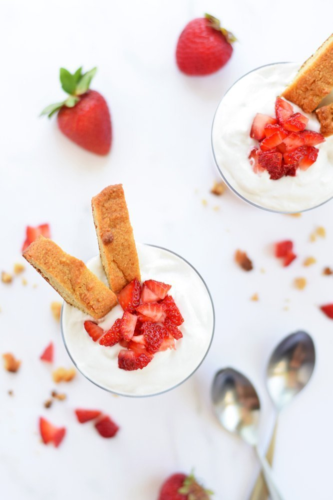 Strawberry Shortcake Pudding Parfaits