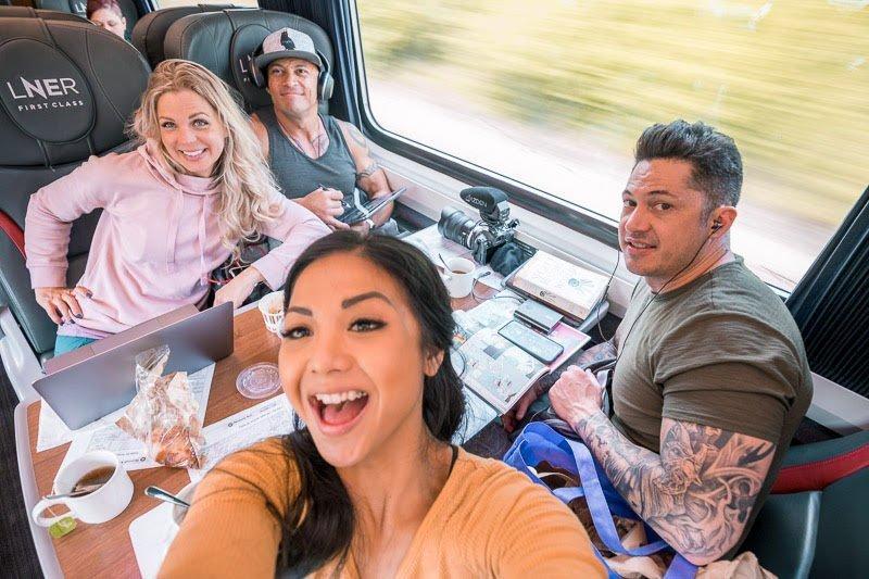 Train to Edinburgh Scotland