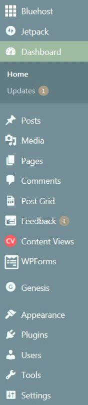 Using WordPress Dashboard