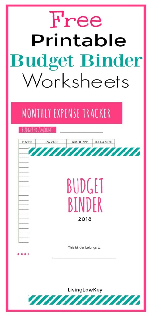 Get your 2018 Free Budget Binder Printables! I love this budget binder! If you want to save money and organize your finances you have to use this budget binder! Let's use these ideas to get you on track to paying off your debt. Start budgeting today!