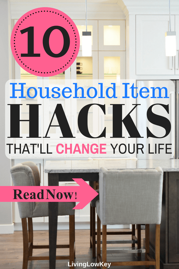 I love these household item life hacks! 10 life-changing, mind-blowing household hacks you wish you would have thought of first. I'm so lucky I found these great tips on how to hack my household items so I can spend less and save more money.