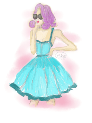 Watercolor Lady (Paint Tool SAI; 2015)