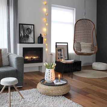 100 inspiring modern living room scandinavian decoration for your home (51)