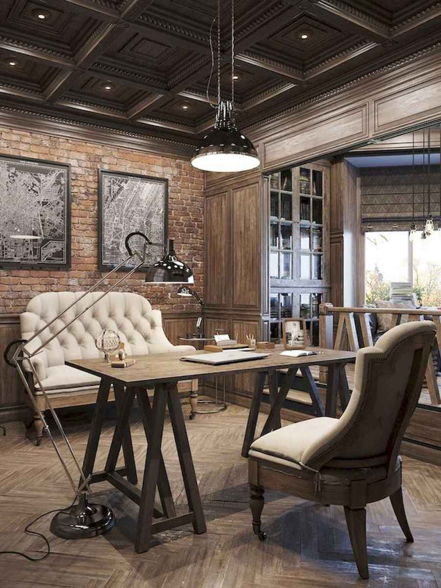 30 amazing rustic home office ideas (19)