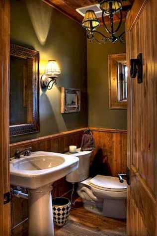 40 homely rustic bathroom ideas to warm you up this winter (13)