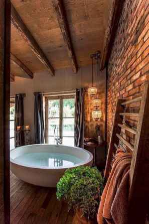 40 homely rustic bathroom ideas to warm you up this winter (26)