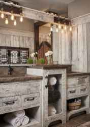 40 homely rustic bathroom ideas to warm you up this winter (36)