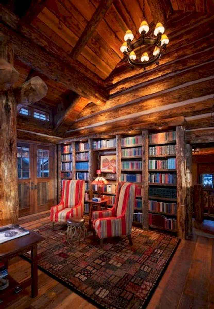 40+ stunning home libraries with rustic design (30)