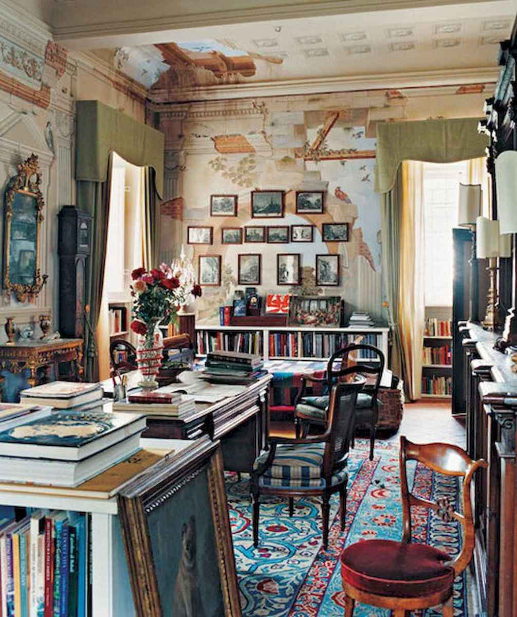 40+ stunning home libraries with rustic design (37)