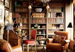40+ stunning home libraries with rustic design (40)