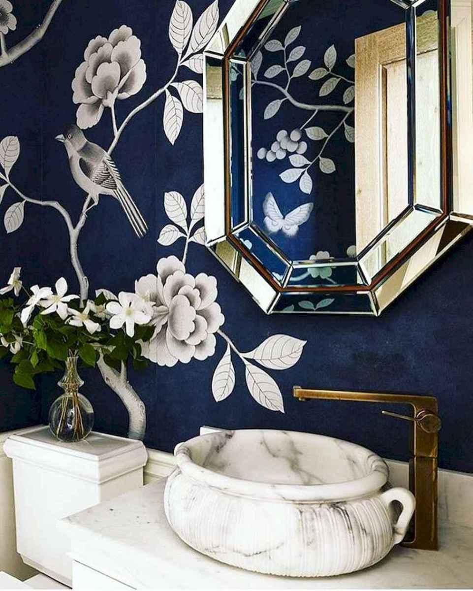 60+ beautiful vintage powder room ideas (15)