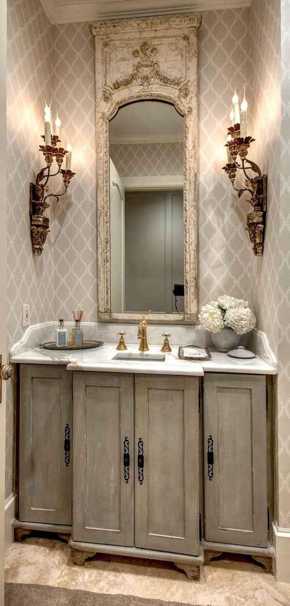 60+ beautiful vintage powder room ideas (60)