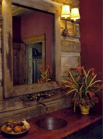 60 cool rustic powder room design ideas (25)