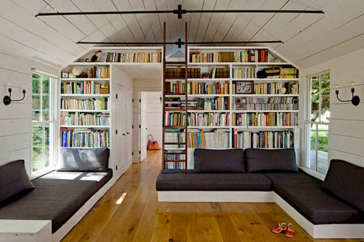 Cool home library design ideas (13)