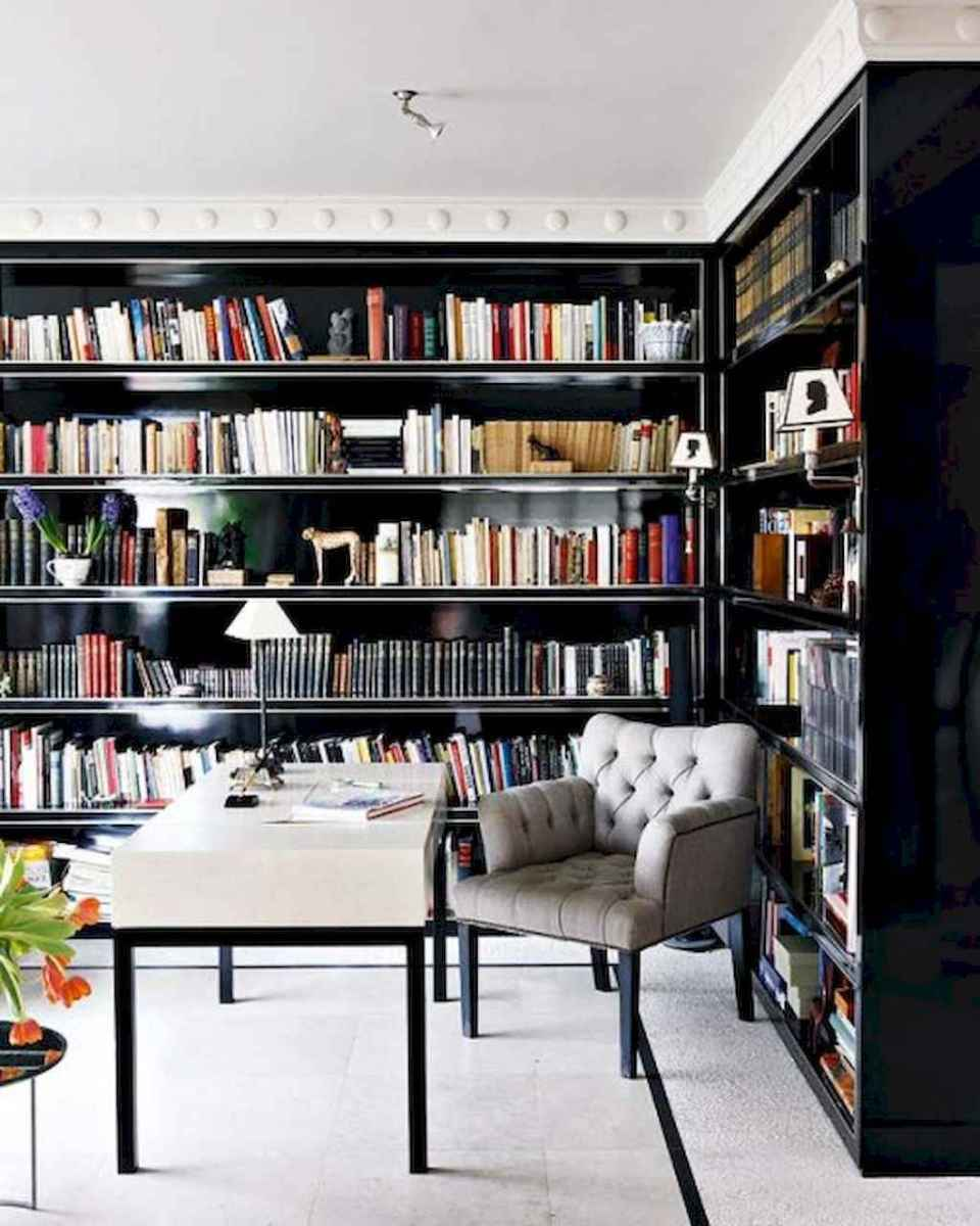 Cool home library design ideas (17)