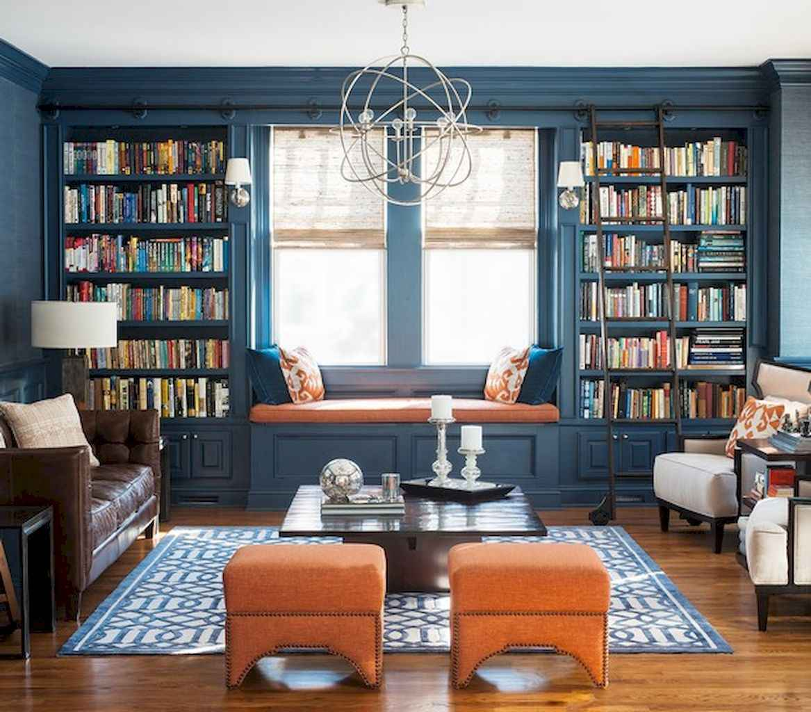 Cool home library design ideas (24)