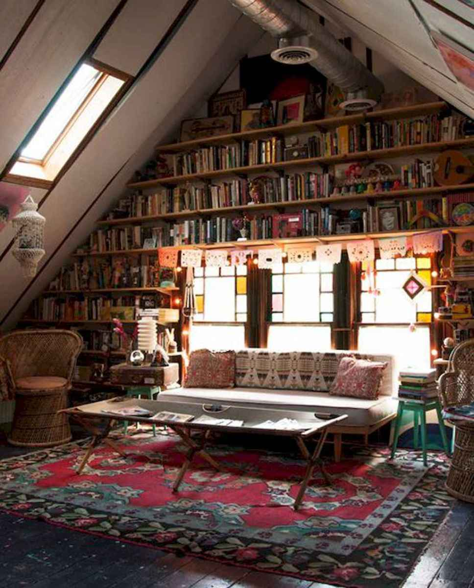 Cool home library design ideas (34)
