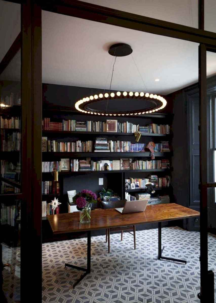 Cool home library design ideas (39)