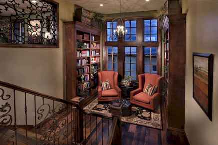 Cool home library design ideas (50)