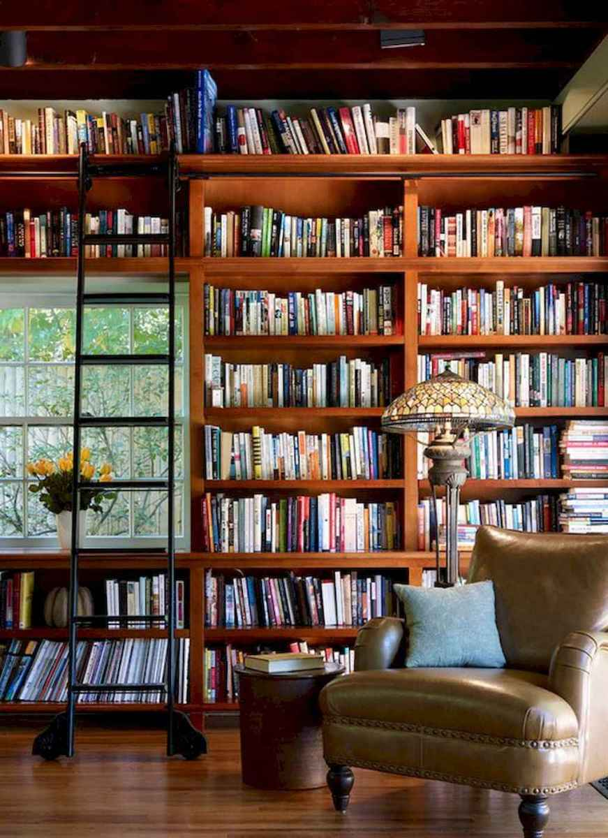 Cool home library design ideas (53)