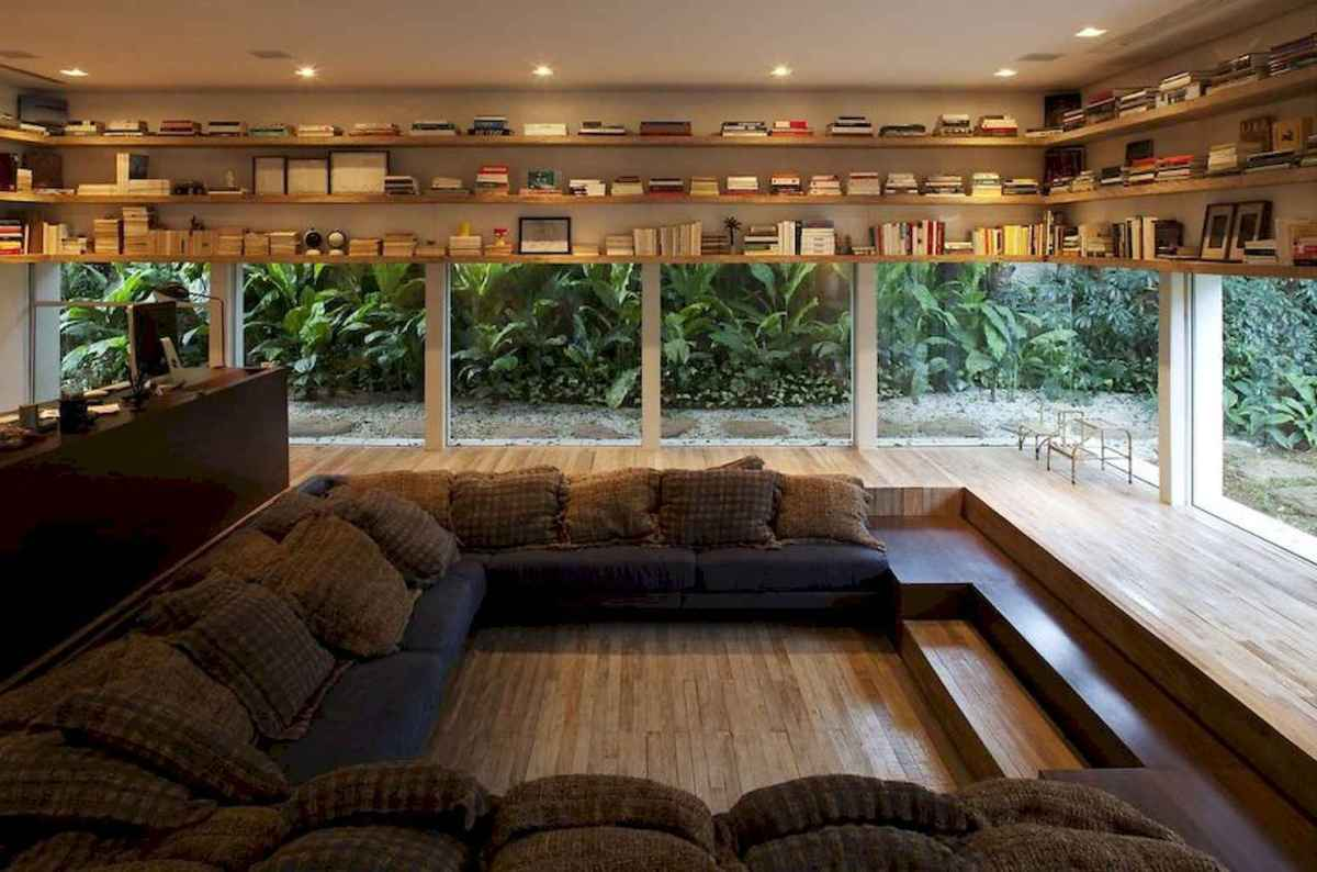 Cool home library design ideas (8)