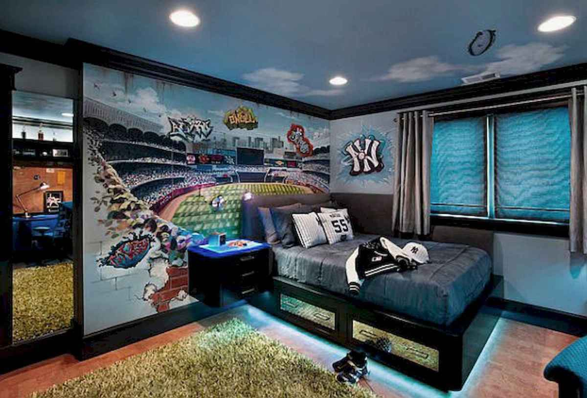 Cool sport bedroom ideas for boys (32)
