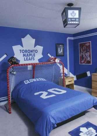 Cool sport bedroom ideas for boys (39)