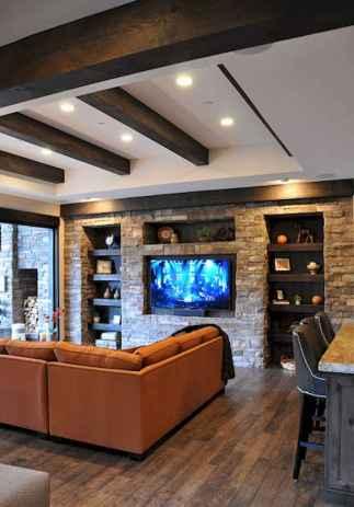 Unique tv wall living room ideas (22)
