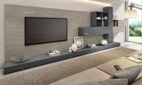 Unique tv wall living room ideas (24)