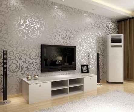 Unique tv wall living room ideas (30)