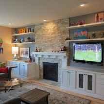 Unique tv wall living room ideas (41)