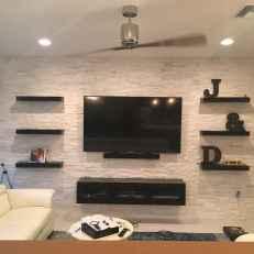 Unique tv wall living room ideas (44)