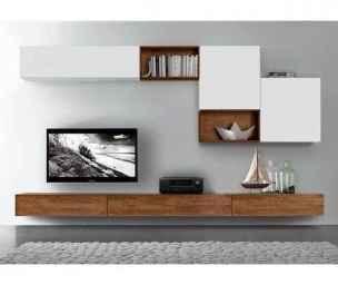 Unique tv wall living room ideas (56)