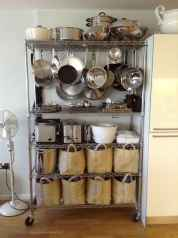 120 DIY Farmhouse Kitchen Rack Organization Ideas (111)