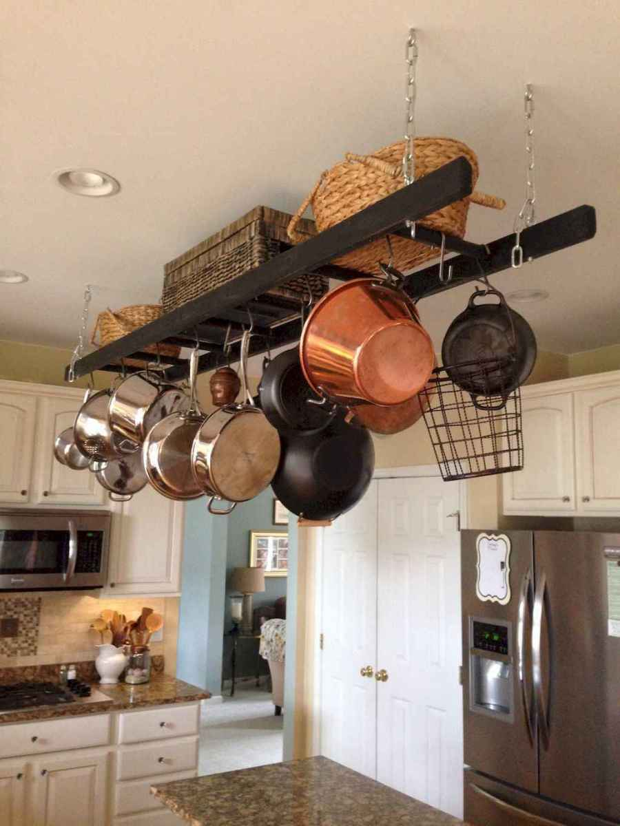 120 DIY Farmhouse Kitchen Rack Organization Ideas (37)