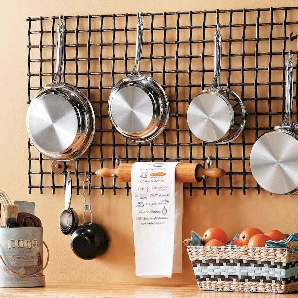 120 DIY Farmhouse Kitchen Rack Organization Ideas (49)
